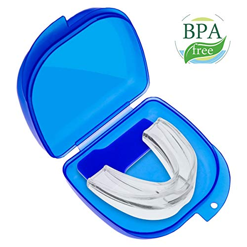Mouth Guard for Grinding Teeth, Dental Guards Night Guards for Teeth Grinding, Anti Snoring Mouthpiece Anti Snoring Devices Snoring Solution, Dental TMJ Mouth and Bite Guard for Teeth Grinding - Snoring Bite