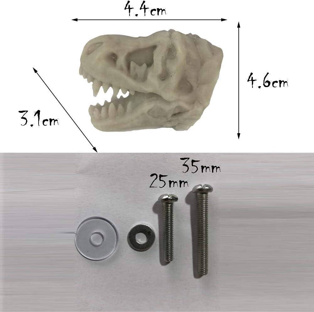 Panda Legends 3 Piezas de simulaci/ón Dilophosaurus Dresser Handle Pulls Dinosaur Drawer Knobs Resina Hardware para Muebles Negro Mate