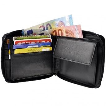 Charmoni – Geldbörse Horizontal Reißverschluss Tür Karte Herren Leder  Rindsleder NEU baffie Gr. Einheitsgröße, df2ba2bc1a