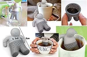 1x Mr quemar para bolsas de té (accesorio colador de té novedad Cocina Agua silicona para bolsas de té Colador de té café r67
