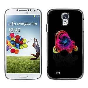 Be Good Phone Accessory // Dura Cáscara cubierta Protectora Caso Carcasa Funda de Protección para Samsung Galaxy S4 I9500 // Colorful Swirls
