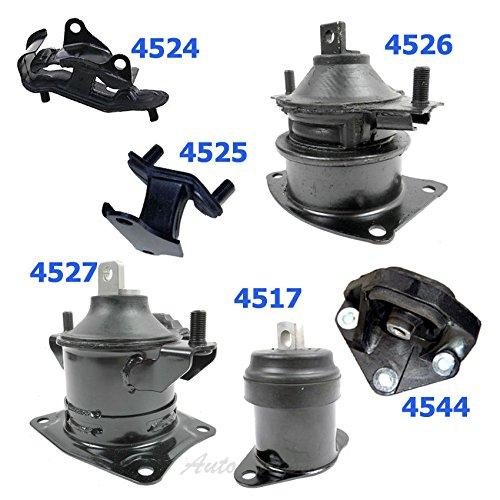 For 2003-2007 Honda Accord 3.0L Engine Motor Mount 4526 4527 4517 4544 4524 4525