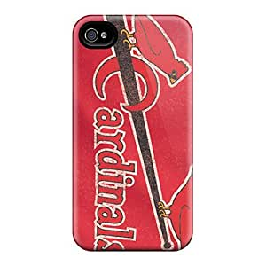 Iphone 4/4s Vng2154dGIo St. Louis Cardinals Tpu Silicone Gel Case Cover. Fits Iphone 4/4s