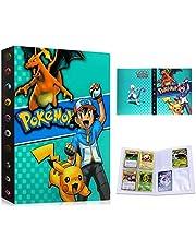 Pokemon-kaartenhouder, album map, boek, Pokemon verzamelalbum, Pokemon-kaarten album, 30 pagina's 240 kaarten capaciteit (blauwe as)