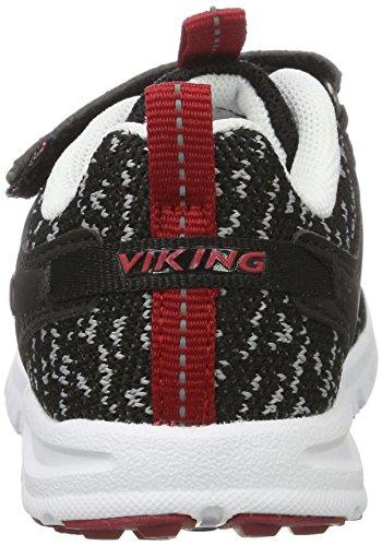 Viking Veil, Zapatillas de Deporte Exterior Unisex Niños Negro (Black/Red)