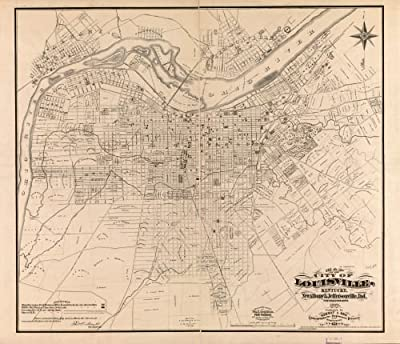 Map of the city of Louisville, Kentucky, New Albany & Jeffersonville, Ind. : from official and other surveys Kentucky|Louisville|Kentucky|Louisville|Kentucky|Landowners|Louisville|Louisville (Ky.)|Rea