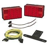 Wesbar 407560 LED Waterproof 4 in. x 6 in. Low Profile Tail Light Kit
