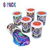 Kicko Marbled Unicorn Color Slime - Pack of 6 Colorful Galaxy Sludgy Gooey Fidget Kit for Sensory and Tactile Stimulation, Stress Relief, Prize, Party Favor, Educational Game - Kids, Boys, Girls