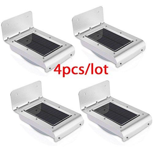 Nueva generacin 16 LED solar energa PIR infrarrojos sensor de movimiento jardn seguridad lmpara al aire libre