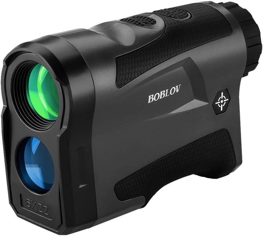 Boblov Telémetro de Golf, LF600G Telémetro Monocular 600M 6 x Aumento Impermeable con Bloqueo de Bandera/Distancia/Medición de Velocidad/Vibración