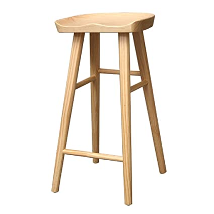 Fantastic Wooden Bar Stool With Footrest Household Modern Casual High Chair For Counter Cafe Kitchen Breakfast Pub 3 Colors Seat Height 65 75Cm Pabps2019 Chair Design Images Pabps2019Com