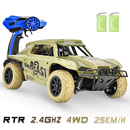 Toys for 6-12 Year Old Boys 4WD Remote Control Car for Kids RC Car Off Road 25KM/H High Speed Racing Car, 4x4 RC Truck Monster Remote Control Vehicle Boys Girls Adults Gifts with 2 Batteries (4x4 Rc Monster Truck)