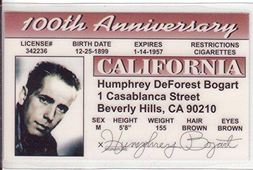 Humphrey Bogart Novelty Drivers License/Fake I.d. Identification for Casablanca/African Queen Fans Signs4Fun