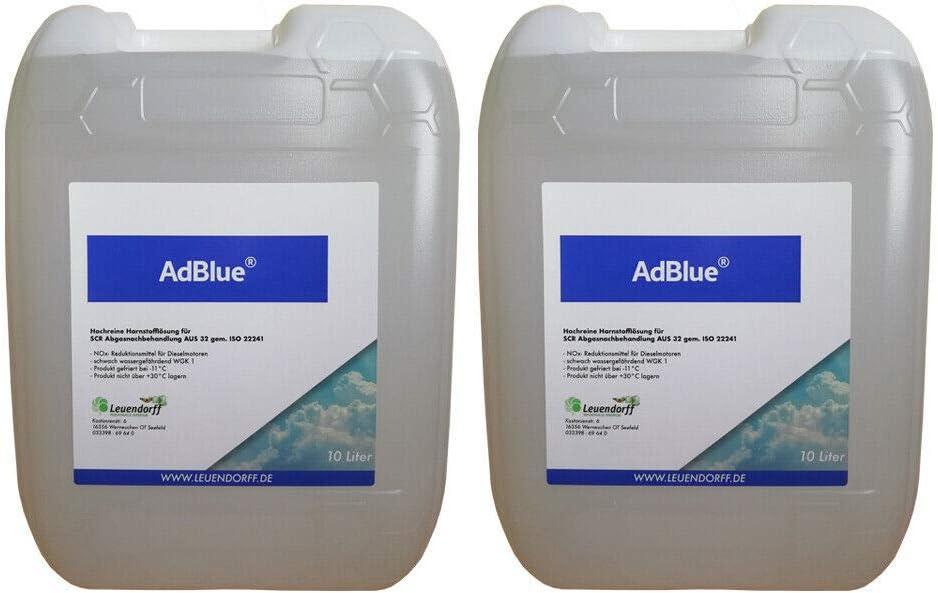 Leuendorff Adblue Hochreine Scr Harnstofflösung Iso 22241 2x10 Liter Inkl Ausgießer Auto