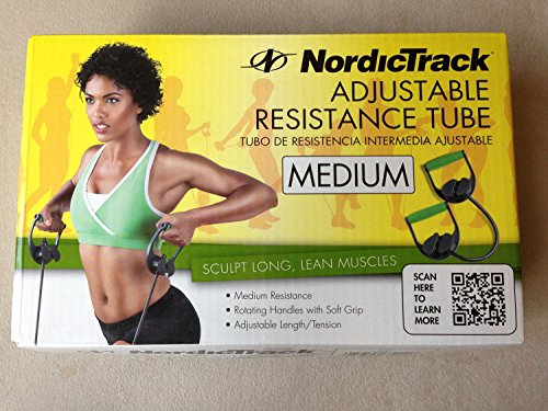 NordicTrack Adjustable resistance tube Medium , sculpt long and lean muscles