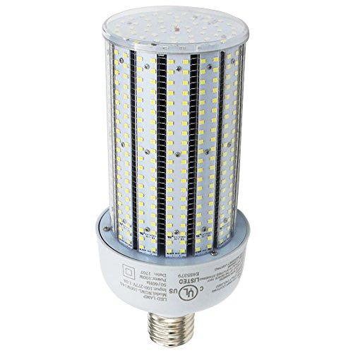 Caree-LED 400W Metal Halide Equivalent LED Corn Cob Bulb 100 Watt,Dustproof Damp-proof,E39 Large Mogul Screw Base,5000K Daylight Using in Parking Lot,Garage,Patio (100) -