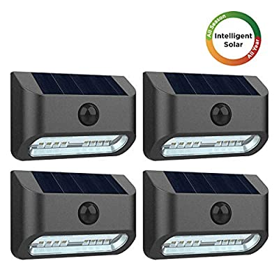 Westinghouse Intelligent Solar Motion Sensor Lights Outdoor 16 LEDs Solar Security Lights 300 Lumens Solar Wall Fence Lights