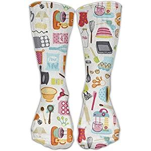 Funny Comfortable Kitchen Ware Cooking Girls Dress Socks Womens Crew Socks