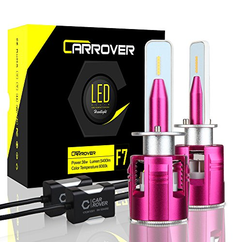 CAR ROVER H1 LED Headlight Bulb, 72W 10800Lumens Extremely Bright LED Conversion Kit, Xenon White 6000K, 2 Year Warranty