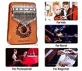 Lavcus Kalimba 17 Keys Thumb Piano with Mahogany