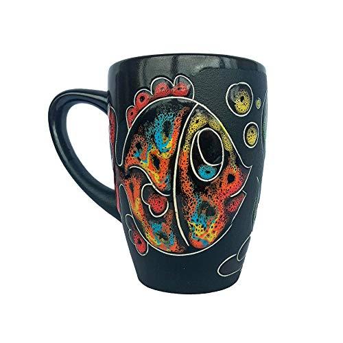 Pottery Coffee Mug Gift Idea «Fish» 13.3 fl oz
