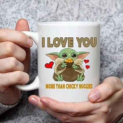 Taza divertida con texto en ingl/és I Love You More Than Naruto Loves Ramen taza de leche