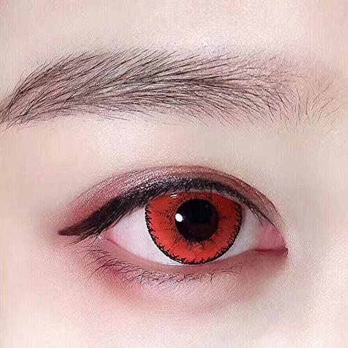 Women's Lentillas De Colores Halloween Eye Mask Shadow Red