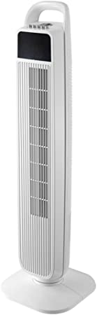 Opinión sobre FHDF Ventilador de torre silencioso portátil Enfriamiento con control remoto, ventilador potente Temporizador de 2 horas, 3 configuraciones de velocidad y operación silenciosa, para el dormitorio y la