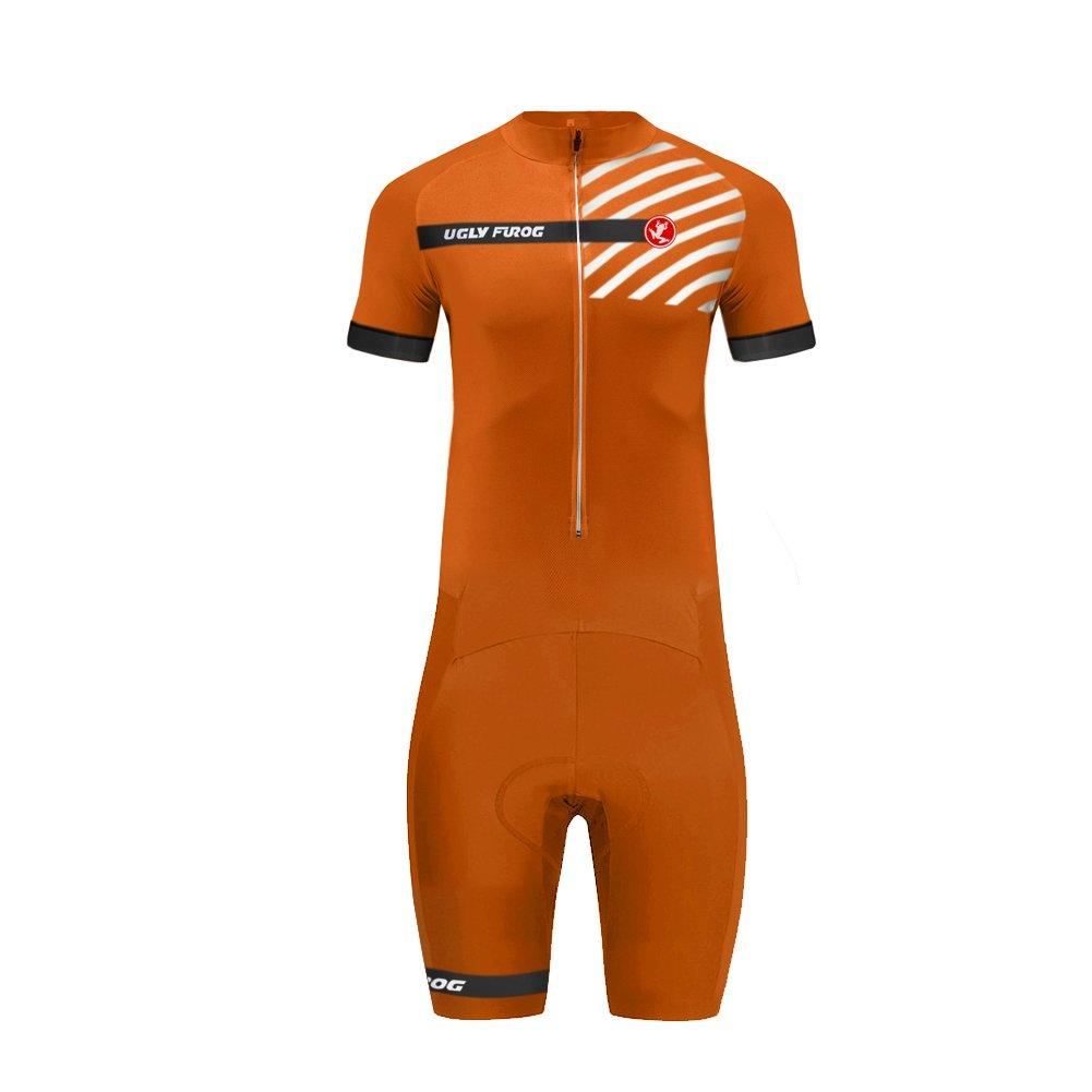 Uglyfrog #07 Designs Mens Short Triathlon Suit/Trisuit Cycling Skinsuits Speedsuit Compressible Breathable & Quick Drying for Biking wear by Uglyfrog