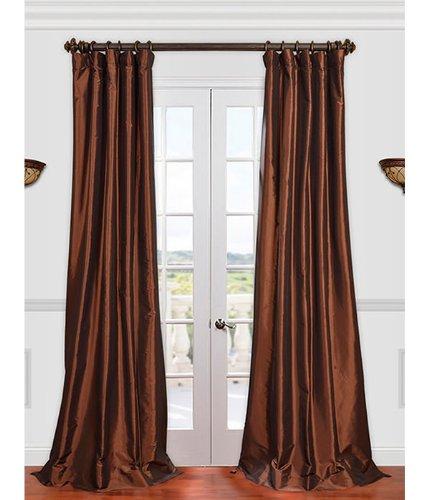 brown faux silk curtain panels - 5