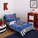 "Little Tikes 4 Piece Pirates Toddler Bedding Set, Blue/Red/Black, 52""x28"""