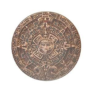 Loudening Mayan, Aztec Sun Calendar Set of 4 Wood Coaster
