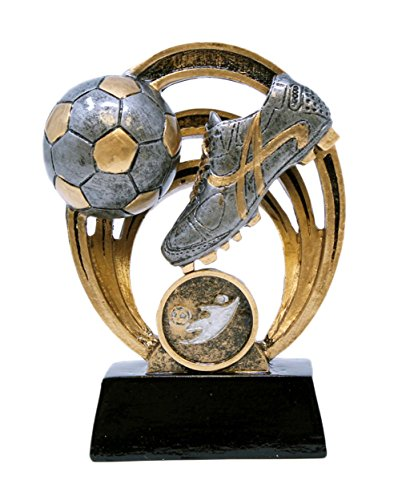 Decade Awards ⚽ Soccer Halo Trophy ⚽ Futbol Award | 5 Inch Tall - Free Engraved Plate on Request
