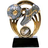 Decade Awards Soccer Halo Trophy | Futbol Award | 5 Inch Tall - Free Engraved Plate on Request