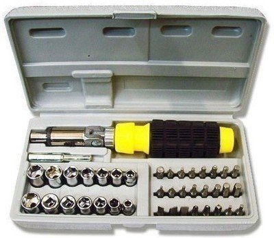 Getzon India 41 Pcs Multi Purpose Ratchet Screwdriver Set  Pack of 7 Socket  Power Tools