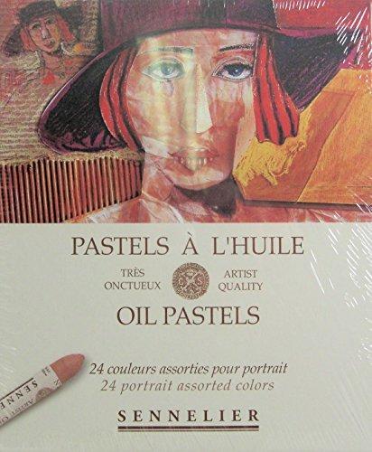 Sennelier Artists Oil Pastels - Set of 24 x Portrait Colours by Sennelier Global Art Supplies
