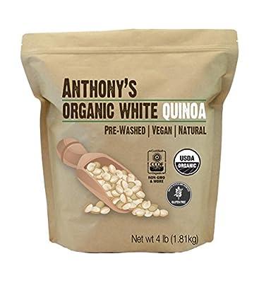 USDA Organic White Quinoa, 4lbs by Anthony's Goods