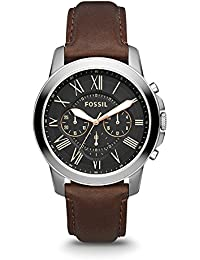 Men's FS4813 Grant Stainless Steel Watch with Brown Leather Band