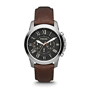 Fossil Men's Grant Analog Analog-quartz Black Watch, (FS4813)