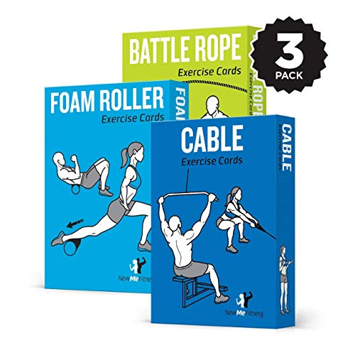 NewMe Fitness 3 Pack Exercise Cards product image