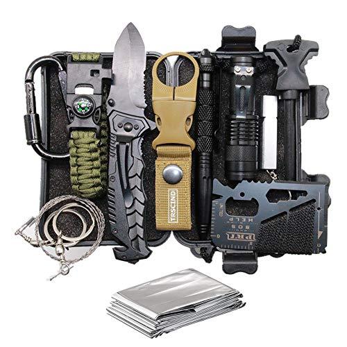 Cool & Unique Birthday Gift for Him Men Husband Dad Boyfriend Boys, Fun Gadget Mens Gifts Ideas, 11-in-1 Survival Gear Kits, EDC Emergency Tools and Everyday Carry Gear, Official Survival Kit (Gifts Men For Birthdays)