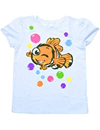 Disney Finding Nemo Bubbles Tee T-shirt Top, Girls