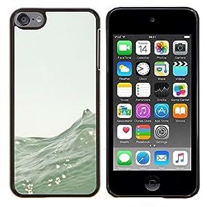 Eason Shop / Premium SLIM PC / Aliminium Casa Carcasa Funda Case Bandera Cover - Olas Mar Surf Verano Naturaleza Barco - For Apple iPod Touch 6 6th Touch6