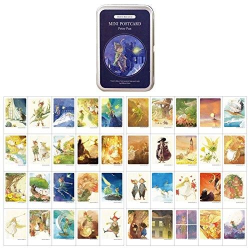 Mini Illustrated Card 40 Instax Mini Cards per Tin Case Decorative & Message Card 2.17