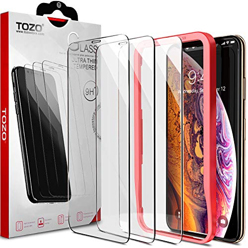 TOZO for iPhone Xs Max/iPhone 11 Pro Max Screen Protector Premium Tempered Glass 9H Hardness 2.5D Super Easy Apply 6.5 inch