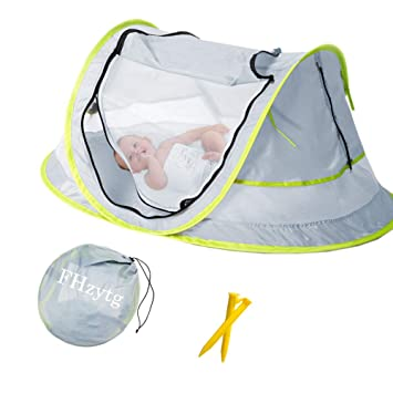 UPF 50 UV Protection Sun... Large Portable Baby Travel Bed Baby Beach Tent