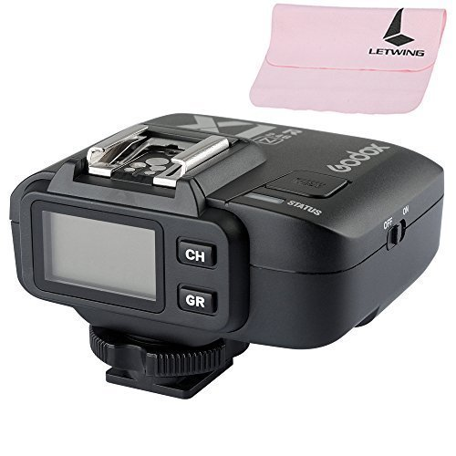 Godox 32 Channels 2.4GHz Wireless LCD 1/8000s HSS TTL Studio Flash Speedlite Trigger Receiver for Nikon D610 D800E D800 D700 D300s D300 D600 D5300 D5200 D3100 D7100 (X1N-R) by Godox