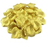 Vlonfine® 1500pc Artificial Flower Rose Petals Wedding Flowers Favors (Gold)