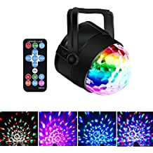 VERKB Portable Stage DJ Light, Mothers Day Gift Idea, 7 Color Modes and Sound Activated, Strobe Disco Ball Karaoke Machine for Birthday Party KTV Festival Bar Decorations (RGB)