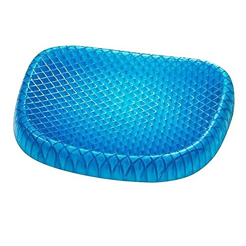 OZMI Memory Seat Cushion, Seat Cushion For The Car Or Office Chair, Honeycomb Design Can Help In Relieving Back Pain & Sciatica Pain(Blue) by OZMI